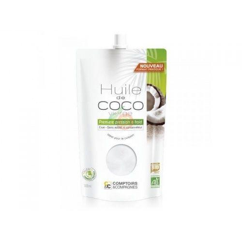 Aceite de coco virgen bio 500 ml comptoirs & compagnies