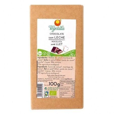 Chocolate con leche 100 gramos vegetalia