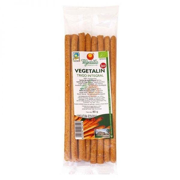 Palitos de trigo integral vegetalin 60 gramos vegetalia