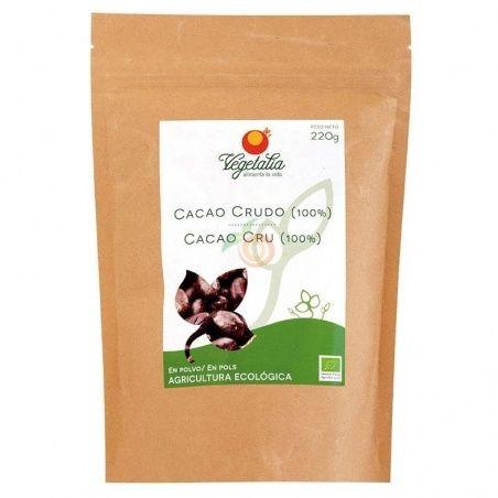 Cacao crudo 100% en polvo 220 gramos vegetalia