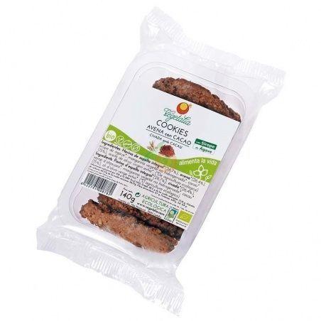 Cookies de avena con cacao y sirope de agave 140 gramos vegetalia