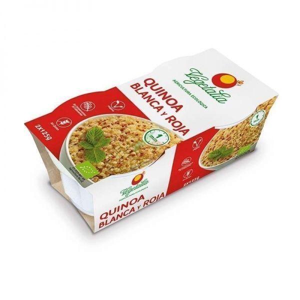 Vasitos de arroz con quinoa blanca y roja 2 unidades vegetalia