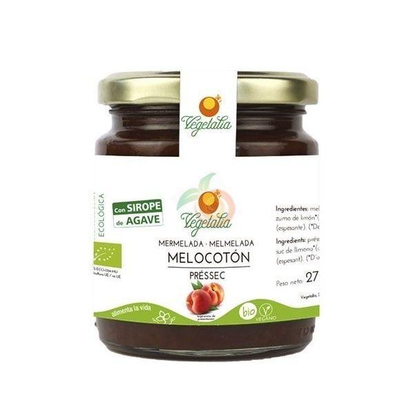 Mermelada de melocotón con sirope de agave 265 gramos vegetalia