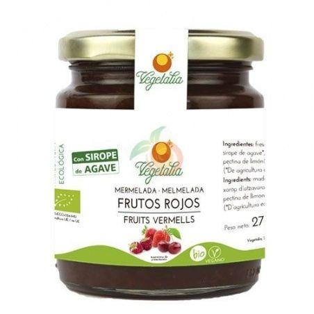 Mermelada de frutos rojos con sirope de agave 265 gramos vegetalia