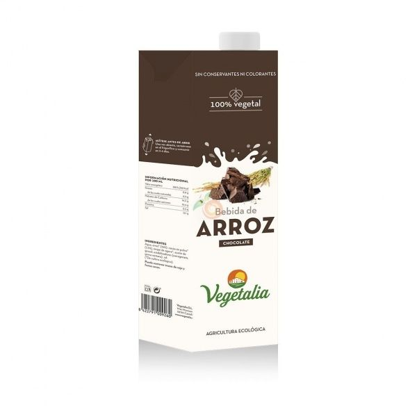 Bebida de arroz con cacao 1 litro vegetalia