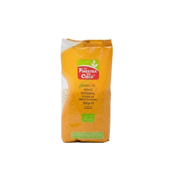 Copos de arroz integral 500 gramos la finestra