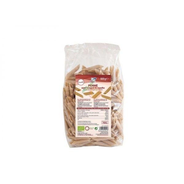 Macarrones de espelta semi integrales 500 gramos la finestra