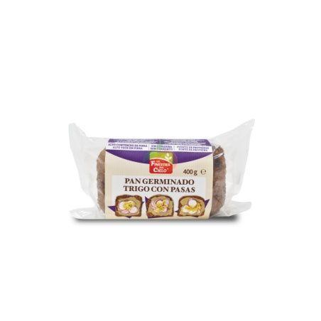 Pan de trigo germinado con pasas 400 gramos la finestra