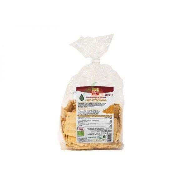 Mini crackers de espelta con cúrcuma y pimienta 250 gramos la finestra
