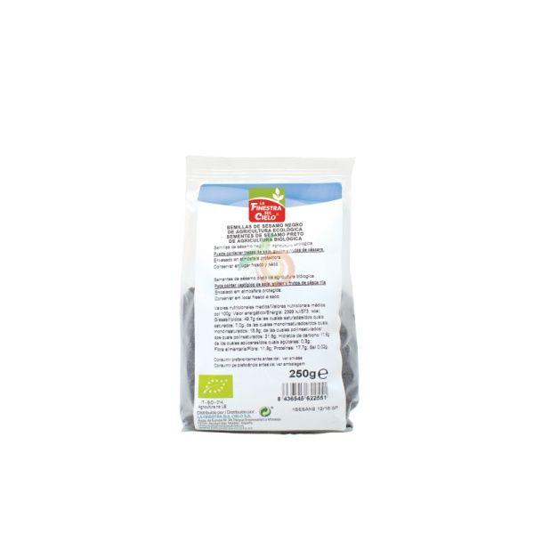 Semillas de sésamo negro 250 gramos la finestra