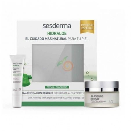 Pack hidraloe crema facial +regalo contorno ojos sesderma
