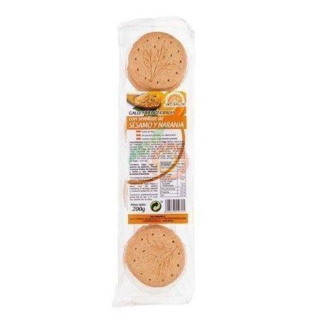Galletas integrales de sésamo y naranja 200 gramos int-salim