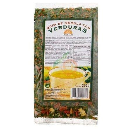 Sopa de sémola con verduras 250 gramos int-salim