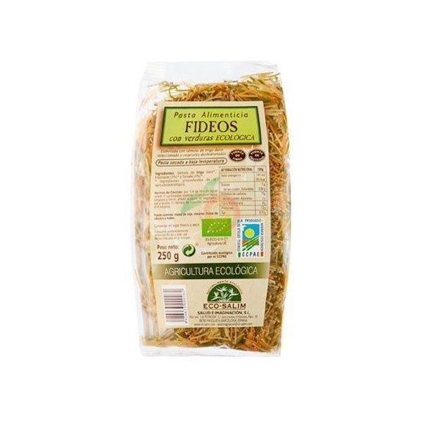 Fideos con verdura 250 gramos int-salim