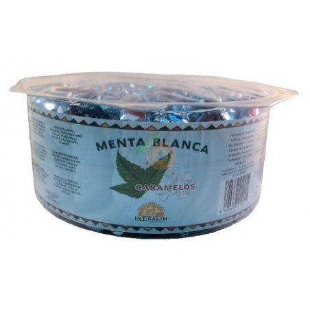 Menta blanca caramelos 800 gramos int-salim