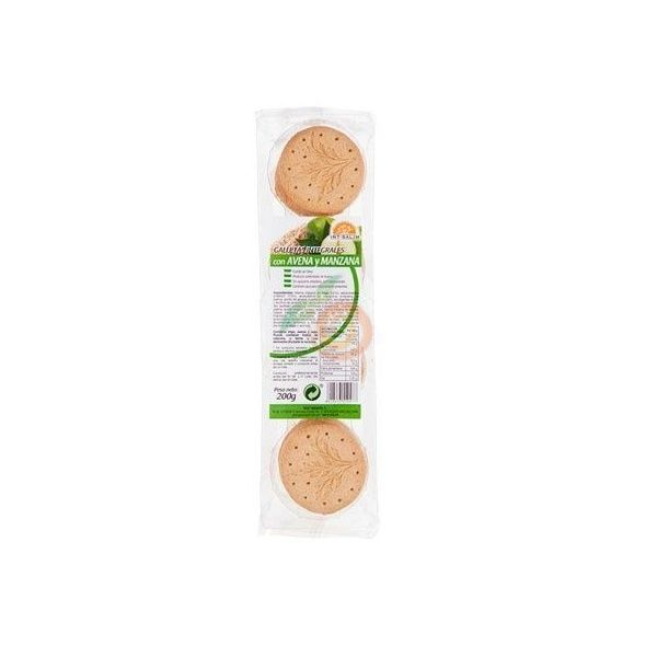 Galletas integrales con avena y manzana 200 gramos int-salim