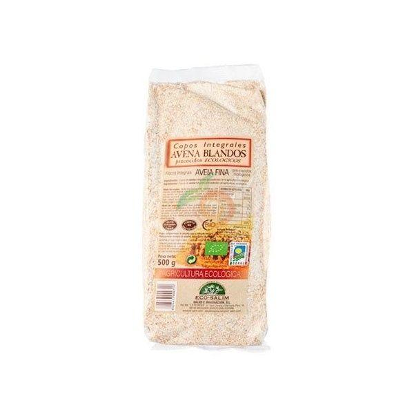 Copos integrales de avena blandos eco 500 gramos int-salim