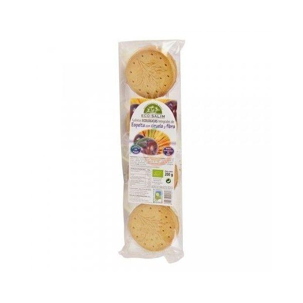 Galletas de espelta con ciruela y fibra eco 200 gramos int-salim