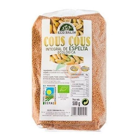 Cous-cous integral de espelta eco 500 gramos int-salim