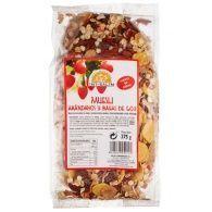 Muesli de arándanos y bayas de goji 375 gramos int-salim