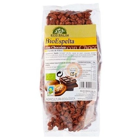 Espelta con chocolate bio 125 gramos int-salim