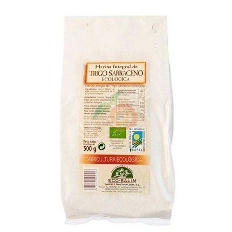 Harina integral de trigo sarraceno eco 500 gramos int-salim
