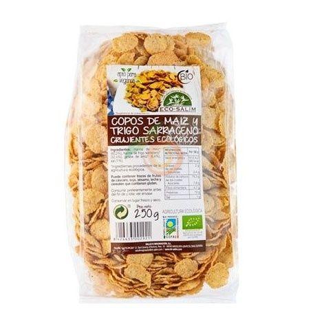 Copos de maíz y trigo sarraceno crujientes 250 gramos eco-salim