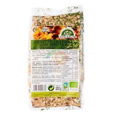 Risotto integral con shiitake 250 gramos eco-salim