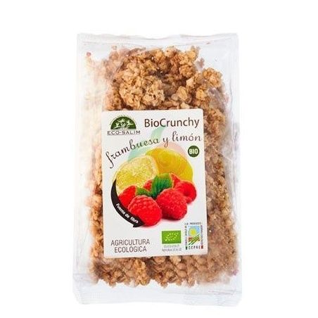 Crunchy frambuesa y limón bio 250 gramos eco-salim