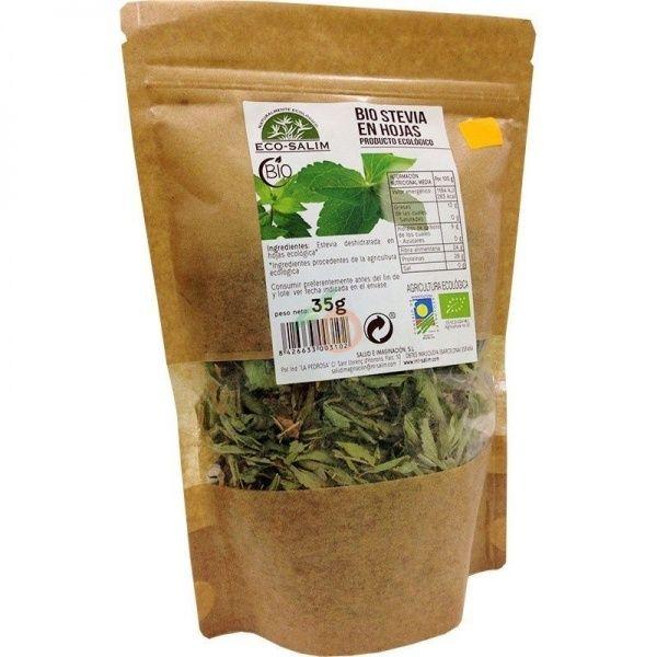Stevia en hojas 35 gramos eco-salim