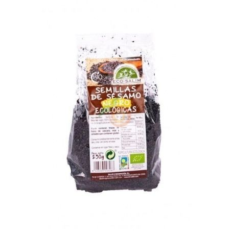 Semillas de sésamo negro 250 gramos eco-salim