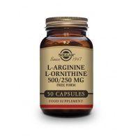L-arginina 500 mg l-ornitina 250 mg 50 cápsulas solgar