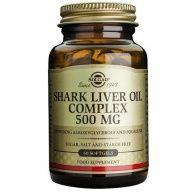 Aceite de hígado de tiburón complex 500 mg 60 perlas solgar