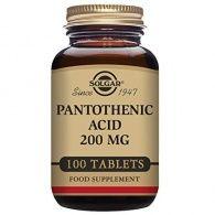 Ácido pantotenico 200 mg 100 comprimidos solgar