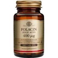 Folacin 400 mcg 100 comprimidos solgar