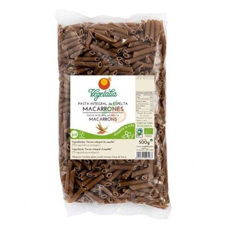 Macarrones de espelta integral 500 gramos vegetalia