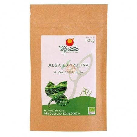 Alga espirulina en polvo 125 gramos vegetalia