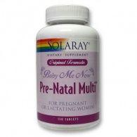 Baby me now prenatal multi 150 comprimidos solaray