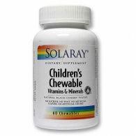 Childrens chewable 60 comprimidos solaray