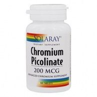 Picolinato cromo 200 mcg 50 comprimidos solaray