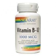 Vitamina b-12 1000 mcg con ácido fólico 90 cápsulas solaray