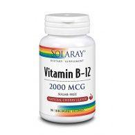 Vitamina b-12 - 2000 mcg 90 cápsulas solaray