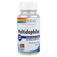 Multidophilus 12 cepas 50 cápsulas solaray