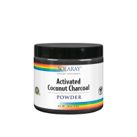 Carbón de coco activado en polvo 75 gramos solaray
