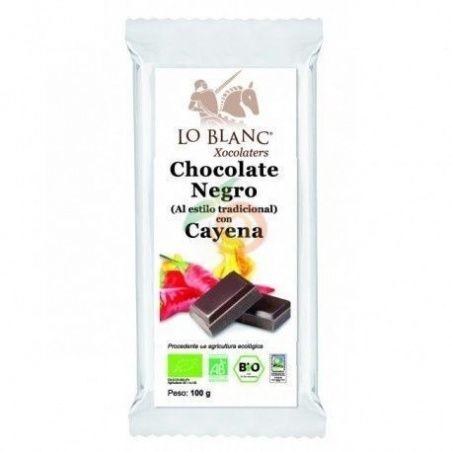 Chocolate negro con cayena 100 gramos lo blanc xocolaters