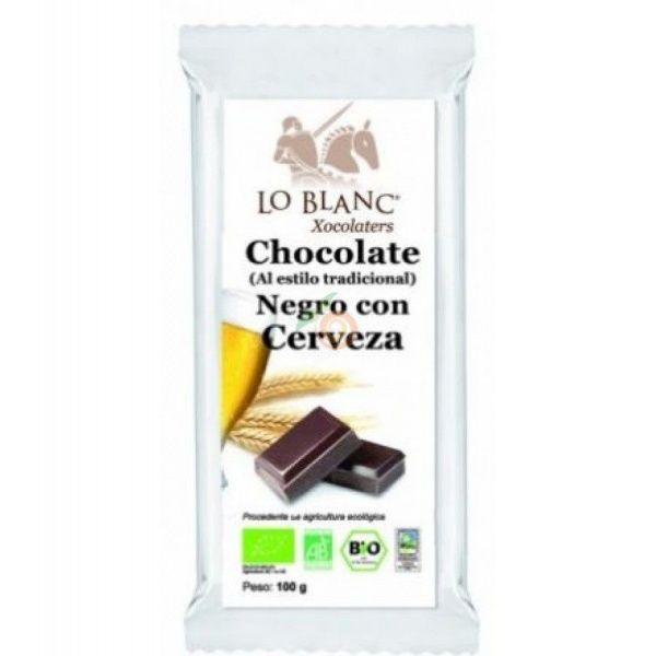 Chocolate negro con cerveza 100 gramos lo blanc xocolaters