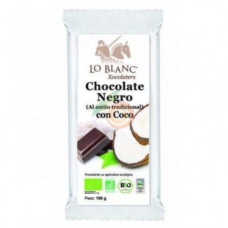 Chocolate negro con coco 100 gramos lo blanc xocolaters