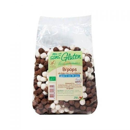 Pops crujientes chocolate 250 gramos ma vie sans gluten