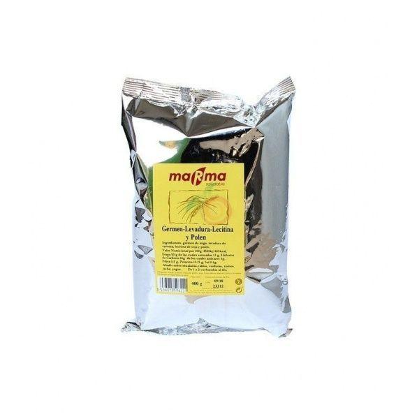 Germen levadura lecitina y polen 400 gramos marma saludable
