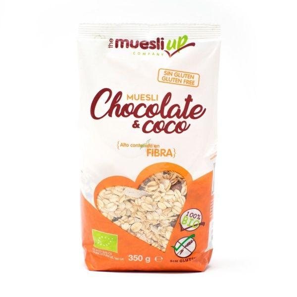Muesli con chocolate y coco 350 gramos the muesli up